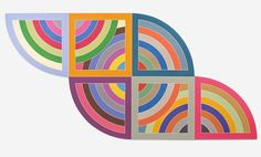 "Happy birthday to artist #FrankStella known for his printmaking and drawing techniques on irregular shaped canvases. ""Harran II"" (1967) from the Guggenheim collection is part of a group of paintings named after ancient cities in Asia Minor. A Roman numeral following the title indicates which of three design groupsinterlaces rainbows or fansencompasses its surface patterning. ""Harran II"" is composed of a full circle formed of two vertical protractors each of which interlocks with a…"