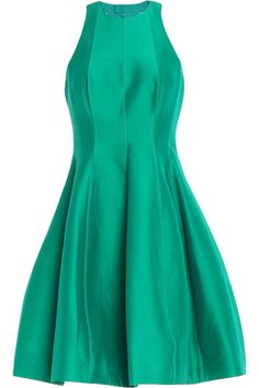 Pleated cotton and silk-blend duchesse-satin mini dress   HALSTON HERITAGE   Sale up to 70% off   THE OUTNET