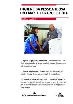 3549. Higiene da pessoa idosa em lares e centros de dia