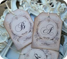 NEW  Personalized Vintage Monogram Wedding by LittlePaperFarmhouse, $10.95