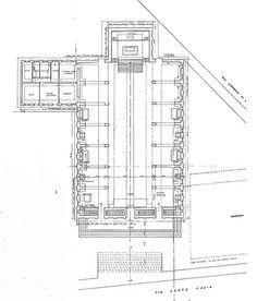 Chiesa San Giovanni al Gatano Pisa, Drawing 1947// by Saverio Muratori
