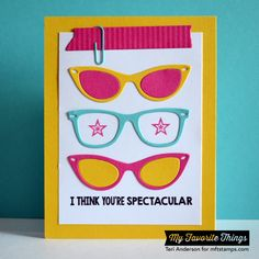 Geek Is Chic, Washi Patterns, Geek Is Chic Glasses Die-namics, Office Supplies Die-namics, Washi Tape Die-namics - Teri Anderson #mftstamps