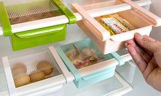 Pratico strumento per risparmiare spazio in frigo