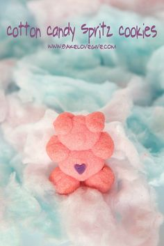 Cotton Candy Spritz Cookies #BeAGoodCookie with bakelovegive.com