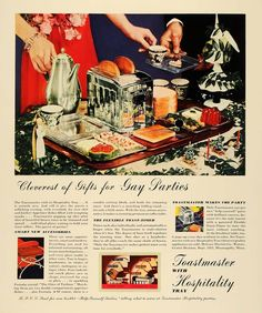 "Toastmaster ad - ""Cleverest of Gifts for Gay parties"" 1935"