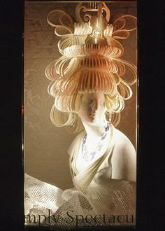 paper wig for window display