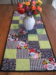 Garden Path Quilted Table Runner / Look For 20% Off Coupon In My Shop