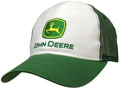 John Deere Trucker Style White and Green Hat