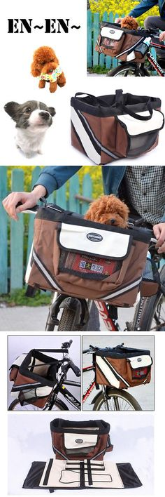 Bike Baskets and Trailers 46453: Pet Store Dog And Cat Pet Bike Bicycle Basket - Foldable Detachable Travel Carrier -> BUY IT NOW ONLY: $35.88 on eBay!