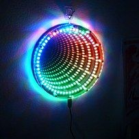 Build this infinity mirror clock. | 39 Impossibly Trippy Products You Need In Your Home