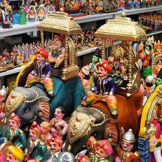 """""Bombe Mane"" and exhibiion of dolls ahead of #dasara in #mysuru #mysore. Photo: M. A. Sriram."" Photo taken by @the_hindu on Instagram, pinned via the InstaPin iOS App! http://www.instapinapp.com (09/28/2015)"