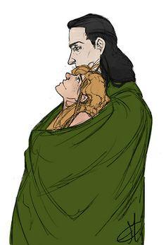 Loki and his wife Sigyn Sigyn Marvel, Loki And Sigyn, Loki Thor, Tom Hiddleston Loki, Loki Laufeyson, Marvel Funny, Marvel Comics, Lady Loki, Loki Mythology