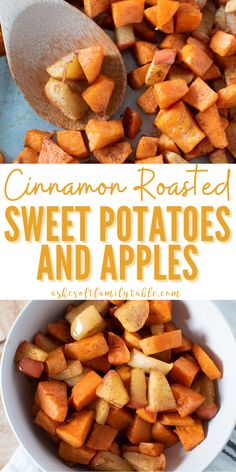 Try this oven roasted sweet potatoes and apples recipe, perfect for fall! With no honey or maple syrup, this recipe is 100% healthy and naturally sweet. You'll love how easy it is to make this easy cinnamon roasted sweet potatoes and apples recipe with only 4 ingredients. #easyrecipes #healthyrecipes #sweetpotatoes #bakedsweetpotatoes #thanksgiving #sidedish #fallrecipe Sweet Potato Oven, Oven Roasted Sweet Potatoes, Boiling Sweet Potatoes, Sweet Potato Cinnamon, Roasted Apples, Sweet Potato And Apple, Apple Recipes, Fall Recipes, Ww Recipes