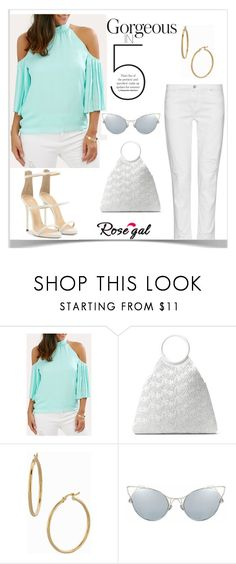 """""""Rosegal- Off Shoulder tops"""" by emina-ahmetovic ❤ liked on Polyvore featuring J Brand, Michael Kors, Bony Levy and Giuseppe Zanotti"""