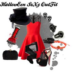 """Halloween sexy outfit"" by elise-wurth on Polyvore"