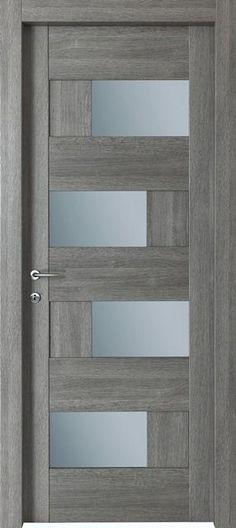 Porte interne modello Dahlia : in legno listellare… Custom Wood Doors, Wooden Doors, Oak Doors, Casa Loft, Modern Front Door, Modern Entry, Main Door Design, Entrance Design, Entrance Doors