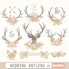 #WEDDING #ANTLERS CLIPART- More #clipart here: http://luvly.co/items/4438/WEDDING-ANTLERS-CLIPART
