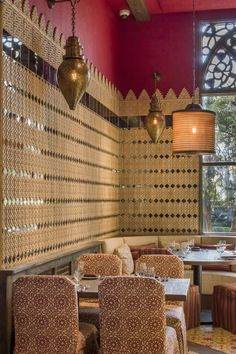 Martyn has overseen the design of Chateau Gütsch in Lucerne, Switzerland, and Chef Rick Bayless's flagship Red O restaurant; Oriental Hotel, Animal Print Rug, Restaurant, Red, Design, Home Decor, Decoration Home, Room Decor, Diner Restaurant