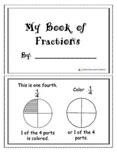 This Fraction Booklet includes explanations and practice for: 1 Whole, One Fourth 1/4, One Third 1/3 and One Half 1/2.  Very easy to use - Print out and Assemble the half-sheet pages. My First Grade students love this!  Also Available at Cricket Classroom Creations:   Fractions: Ice Cream Sundaes  Fraction Assessment  Valentine's Day Addition and Subtraction Practice Sheets  Numbers and Counting Booklet  Pattern Blocks Independent Work Station  Addition and Subtraction Task Cards  Comparing…