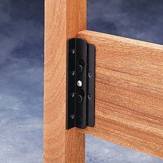 Surface Mounted Keyhole Bed Rail Brackets: bed rail bracket with safety lock feature. Includes four bracket sets, enough for one bed. Screws not included. Essential Woodworking Tools, Antique Woodworking Tools, Rockler Woodworking, Fine Woodworking, Woodworking Classes, Woodworking Machinery, Custom Woodworking, Woodworking Crafts, Bed Hardware