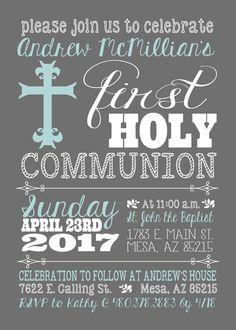 Primera invitación de la comunión invitación por CLaceyDesign