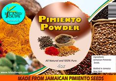 Pimiento Powder...hmmm savor the essence of freshly ground pimento (all-spice).  @islandsoups, www.islandsoups.com Spice Things Up, Dog Food Recipes, Powder, Spices, Favorite Recipes, Pure Products, Face Powder, Dog Recipes