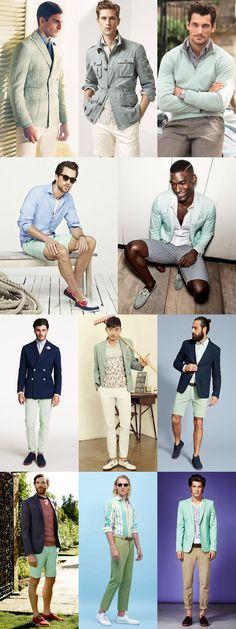 Men's Alternative 2014/15 Spring/Summer Colour Trends: Mint/Pastel Green Lookbook Inspiration