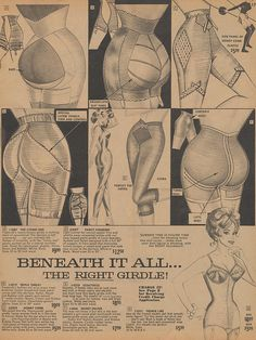 Beneath It All - The Right Girdle  Page 17 of the Summer 1963 Frederick's of Hollywood catalog.