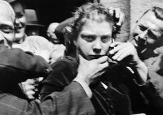 """The Danish women who had sexual or romantic relationships with Nazi soldiers were called """"field mattresses"""" (feltmadrasser in Danish), """"German girls"""" (Tyskertøs in Danish) and other similar nicknames. Cut Her Hair, Hair Cuts, Number The Stars, Germany Ww2, War Photography, German Girls, North Africa, World War Two, Wwii"""