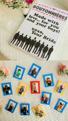 Wedding lego boutonniere