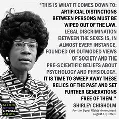 Shirley Chisholm (November 30, 1924 – January 1, 2005), American politician, educator, and author.