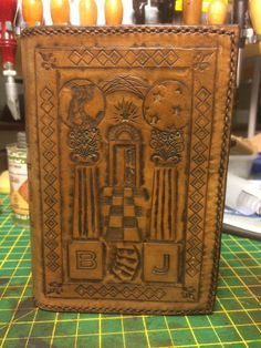 Second degree plate for ritual book cover, made by Dave Adams