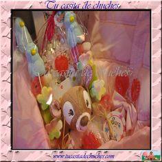 Cesto bienvenida bebe. Personalizamos segun preferencias y presupuesto. Disponible en www.tucasitadechuches.com