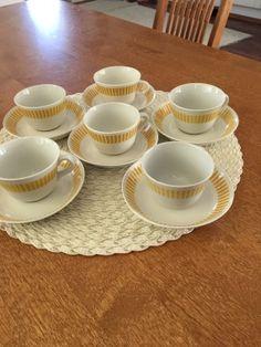 Arabia kaide kupit ja tassit 6 kpl - Huuto.net Finland, Cups, Tableware, Mugs, Dinnerware, Tablewares, Place Settings