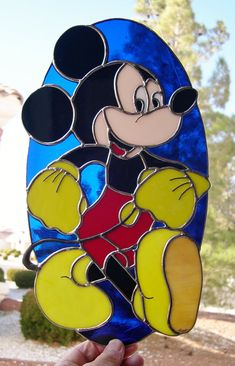 Stained Glass Mickey Mouse <3 - My mom could make this for Sam!