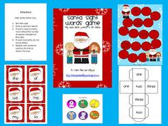 Lesson Plans and Lollipops: Santa Sight Words Game Freebie