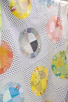 This is somehow very soft and serene. I love it! Green Bee Quilt Pattern - Lots of Dots Quilt $10