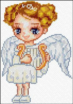 Cross Stitch | Angel xstitch Chart | Design