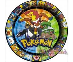 Pokemon 'Diamond and Pearl' Large Paper Plates (8ct)
