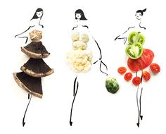 Fashion Illustrations That Will Have You Eating Local... #NYFW #sweetgreen #GretchenRoehrs