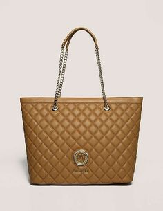 brown Love Moschino Large Shopper