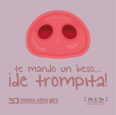 un besito Love Phrases, Love Words, Funny Love, Cute Love, Cute Quotes, Funny Quotes, Funny Memes, Mr Wonderful, Little Pigs