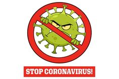 Evil Coronavirus Cartoon Character of Pathogenic Bacteria In A Prohibited Symbol With Text. Vector Illustration Isolated On White Background - EPS 10 Bacteria Cartoon, Hand Washing Poster, Rajasthani Painting, Motto, Birthday Party At Home, Powerpoint Background Design, School Clipart, Emoji Stickers, Editing Background