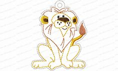 Jesse Tree Ornament Day 13 Lion Embroidery Design is a way to advent with your family and countdown the days until Christmas. 25 ornaments in the whole set.