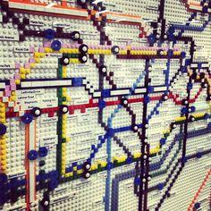 #LondonUnderground #lego #map
