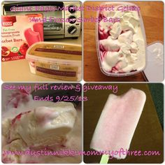 Giant Eagle Market District Gelato & Frozen Sorbet Bars (both gluten free) #Giveaway - (2) TWO of my lucky DustinNikki Mommy of Three readers will win (1) Giant Eagle District Market Gelato FREE product coupon AND (1) Giant Eagle Frozen Fruit or Sorbet Bar 6-Pack FREE product coupon! ends 9/25/13