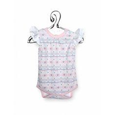Bio Bio Bimbo - Fru-Fru Capo d'abbigliamento sfizioso, originale per il corredino bebè in cotone biologico. Body firmato Sapling, fantasia delicata, è sano, morbido e confortevole