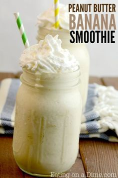 Try this delicious peanut butter banana smoothie recipe. This peanut butter banana almond milk smoothie is delicious and super easy to make. With a few changes and you can also make banana peanut butter greek yogurt smoothies recipe. Either way they are delicious! #smoothiesrecipespeanutbutter