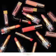 Love them all  Regram @napoleonperdis  #beauty3280 #misskit #shop3280 #peach#lipstick #perfectshade by misskitbeauty