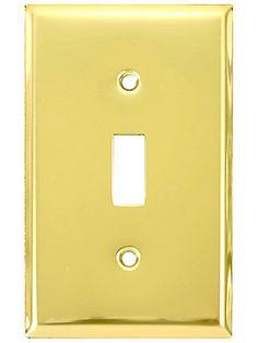 Vintage Door Knob Backplates Stamped Brass New York Door Plate